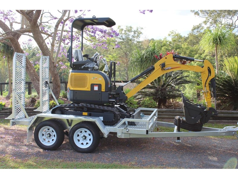 carter ct16 mini excavator with trailer 433547 004