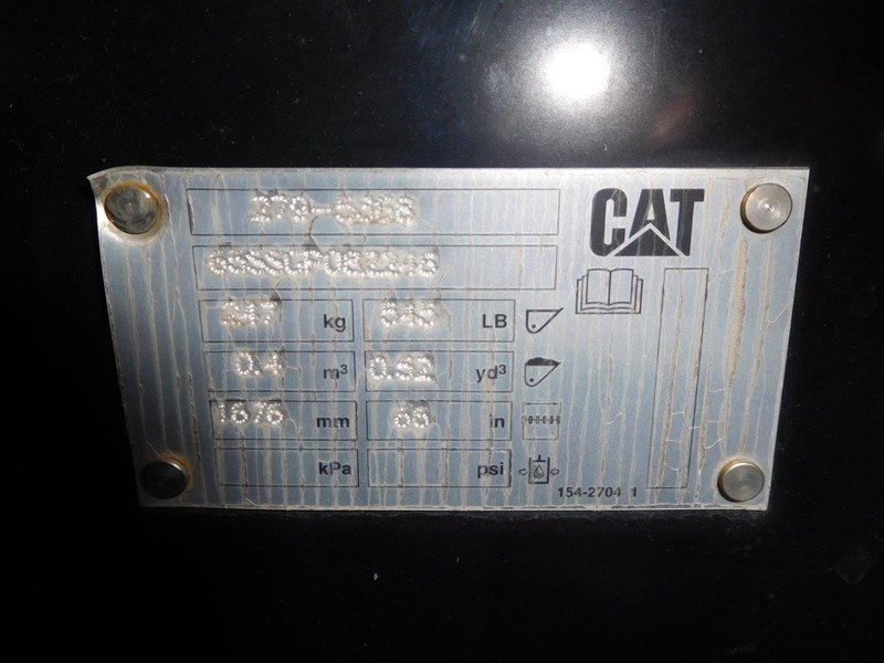 caterpillar #npp07 - 1700mm genuine cat 0.40 cube gp bucket suit skid steer loaders [attppitem] [attbuck] 434248 012