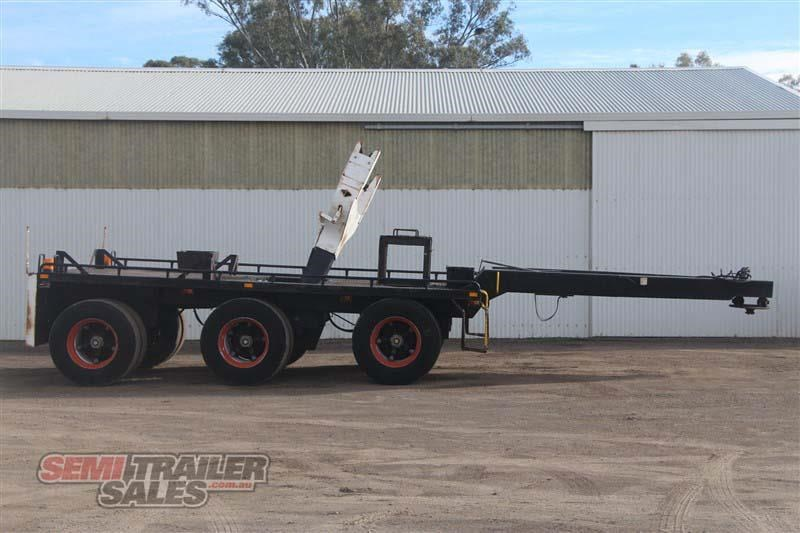 midland tri axle dolly jinker semi trailer with centre mount crane 435282 001