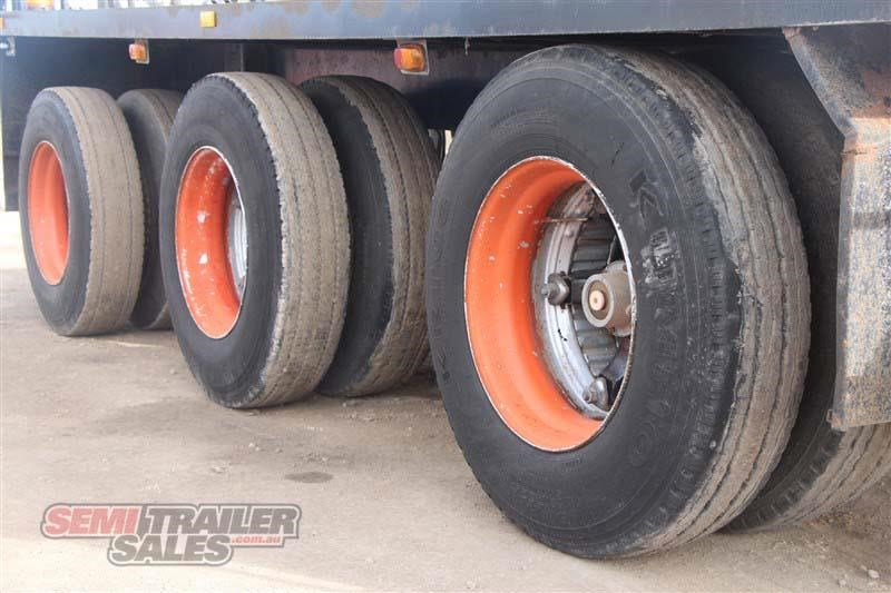 midland tri axle dolly jinker semi trailer with centre mount crane 435282 006