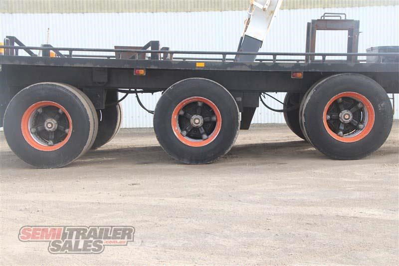 midland tri axle dolly jinker semi trailer with centre mount crane 435282 008
