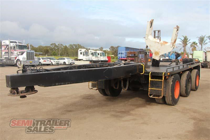 midland tri axle dolly jinker semi trailer with centre mount crane 435282 018