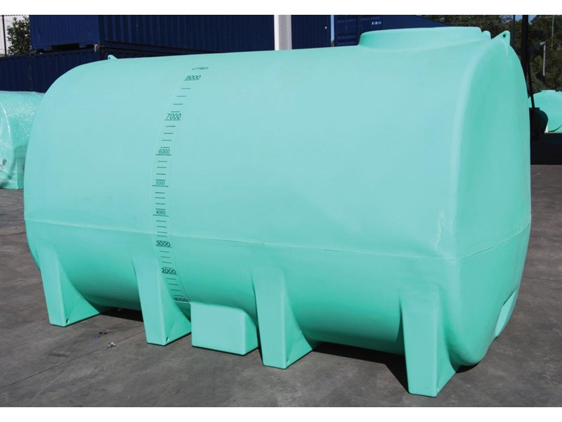 free standing 8000 l active liquid cartage tank /  water tank [ptc08000to] [tfwater] 243551 012