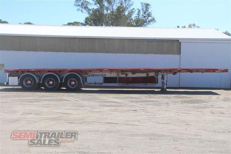 maxitrans 45ft flat top road train rated semi trailer with 3 way pins 435674 001