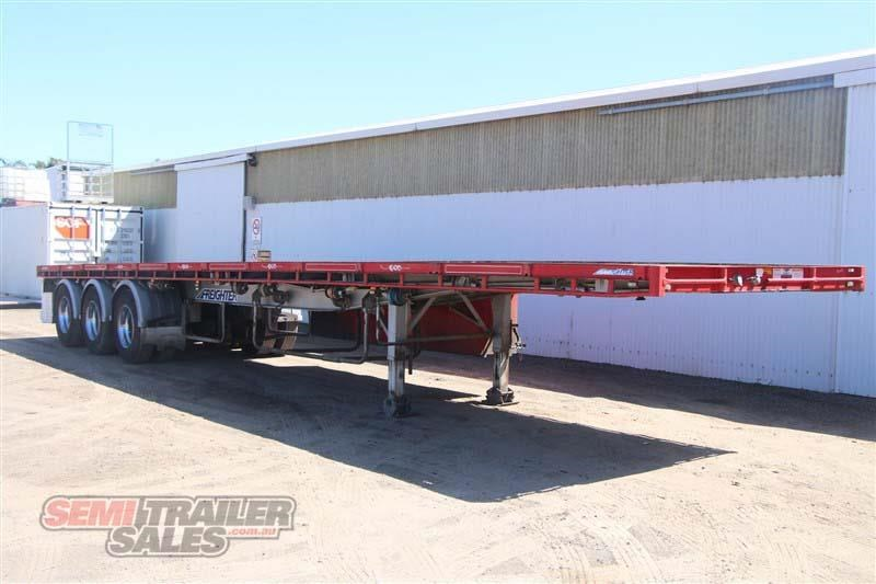 maxitrans 45ft flat top road train rated semi trailer with 3 way pins 435674 002