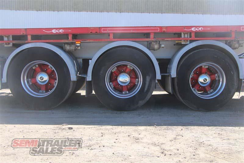 maxitrans 45ft flat top road train rated semi trailer with 3 way pins 435674 008