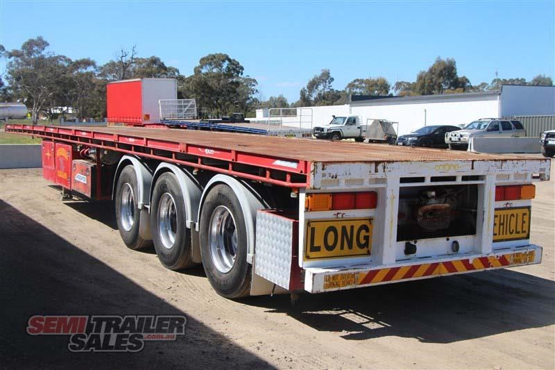 maxitrans 45ft flat top road train rated semi trailer with 3 way pins 435674 015