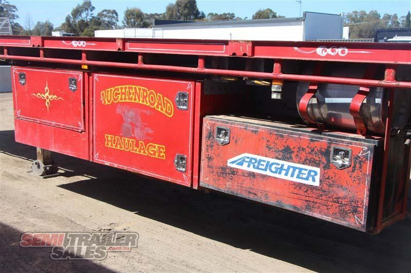 maxitrans 45ft flat top road train rated semi trailer with 3 way pins 435674 019