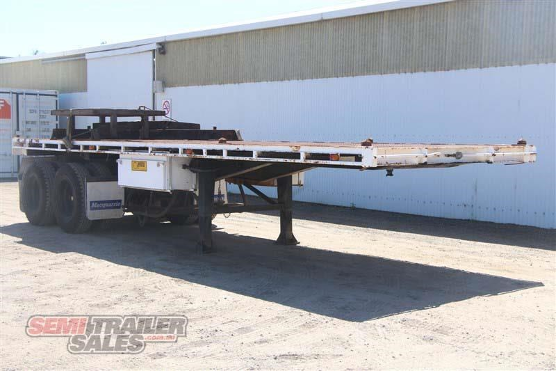 macol 27ft flat top semi trailer with pins 435688 002
