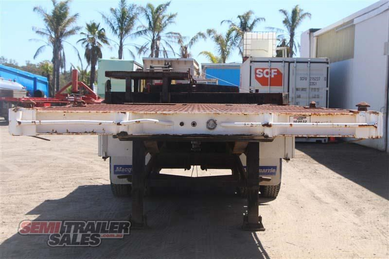 macol 27ft flat top semi trailer with pins 435688 004