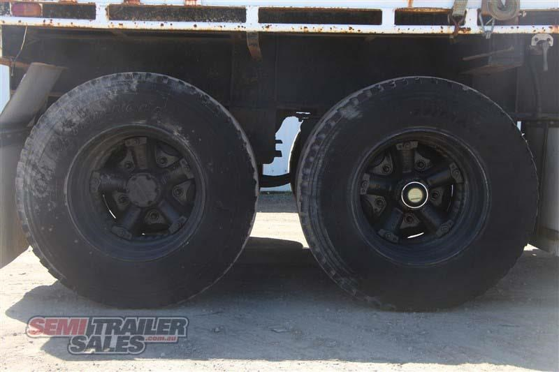 macol 27ft flat top semi trailer with pins 435688 008