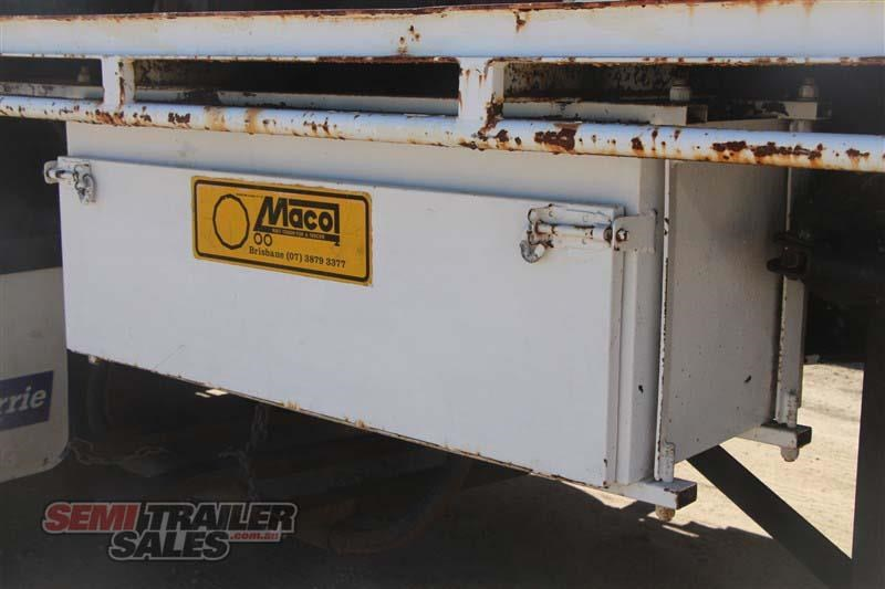 macol 27ft flat top semi trailer with pins 435688 012