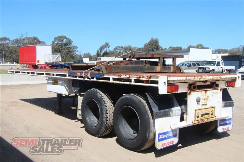 macol 27ft flat top semi trailer with pins 435688 015