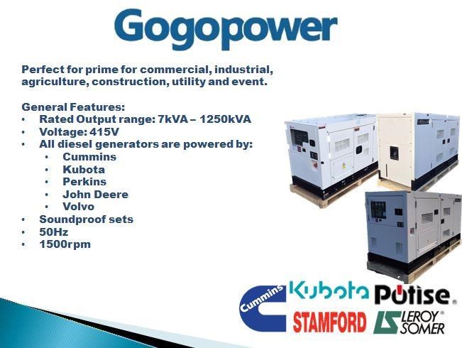 gogopower brand new sdp30k5s-au kubota powered generator 30kva 433911 006