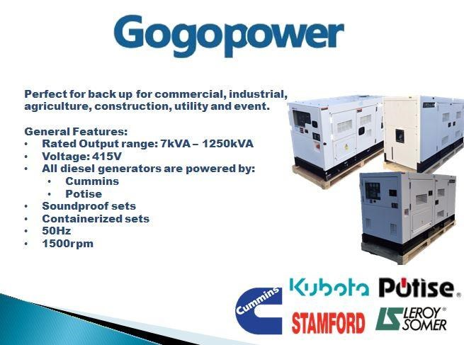 gogopower brand new ds250c5s-au cummins powered generator 250kva 435468 019