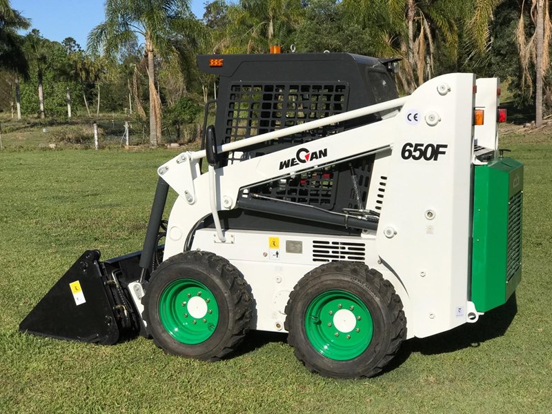 wecan skid steer loader with 4 in 1 bucket 436478 013