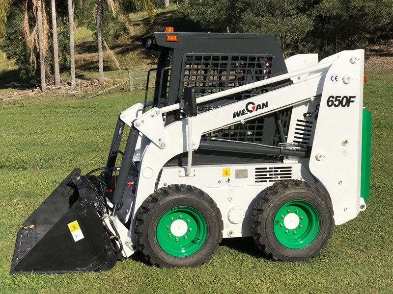 wecan skid steer loader with 4 in 1 bucket 436478 014