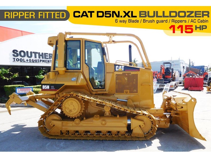 caterpillar #2217d cat d5 dozer d5n.xl bulldozer with ac cab & brush guard [low hours] [machdoz] 436684 002