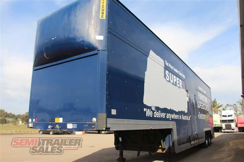maxi-cube double drop deck pantech semi trailer 436694 014