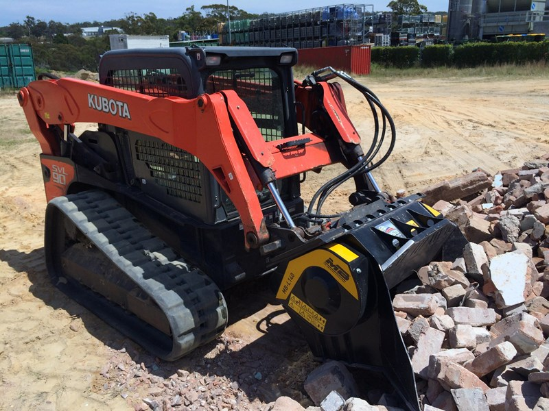 mb l-140 skid/loader crusher bucket by boss attachments 347350 002