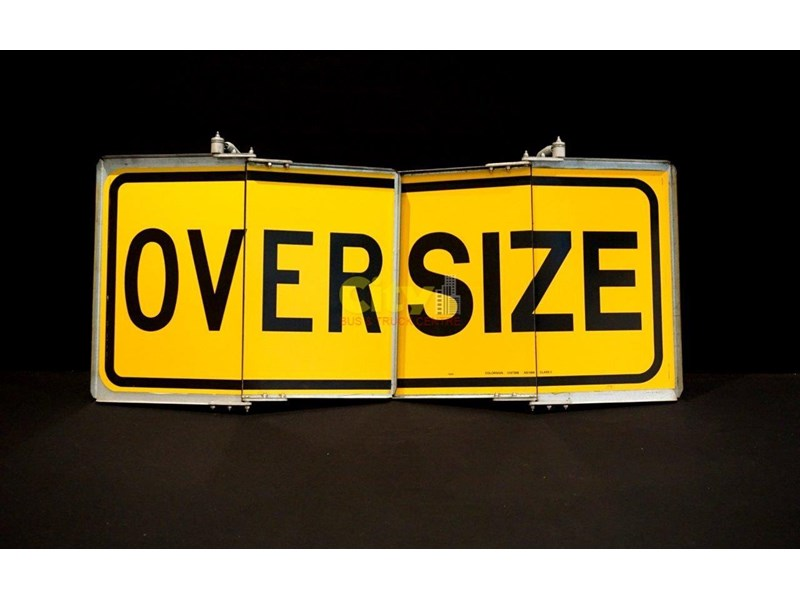 """over size"" signs folding type 436816 002"