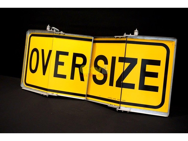 """over size"" signs folding type 436816 005"