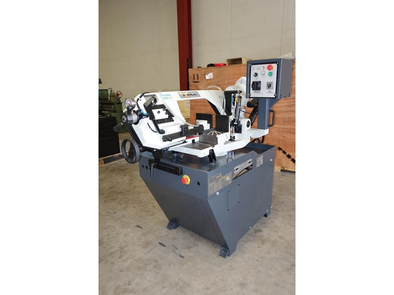 eximus taiwanese manual ø225mm capacity double mitre bandsaw 437508 001