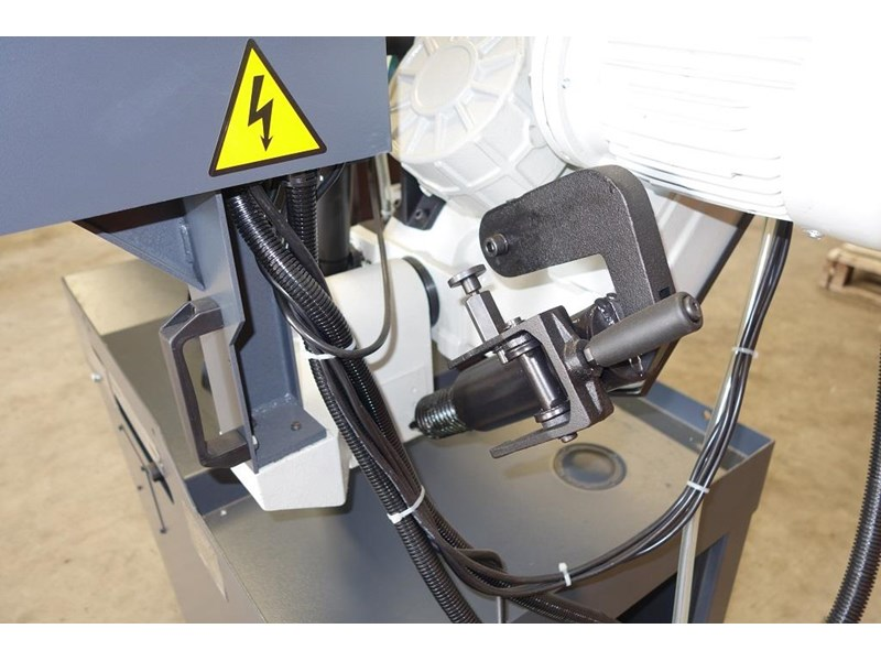 eximus taiwanese manual ø225mm capacity double mitre bandsaw 437508 014