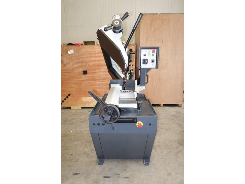 eximus taiwanese manual ø225mm capacity double mitre bandsaw 437508 017