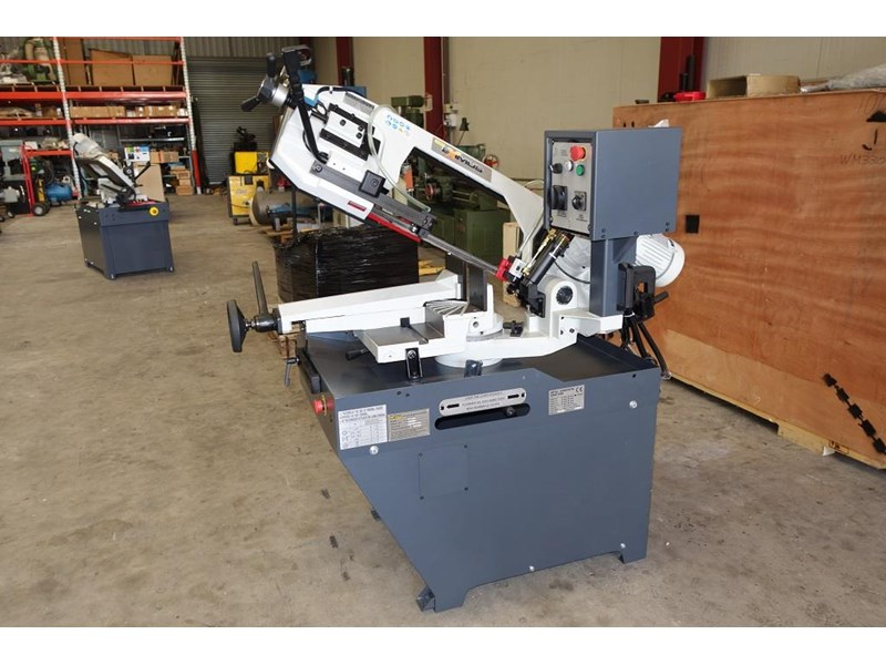eximus taiwanese manual ø225mm capacity double mitre bandsaw 437508 020