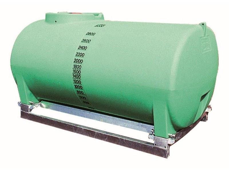 spray tank 3000l pin mount water tank [ptsp03000ktt] with galvanised steel skid [tfwater] 243559 001