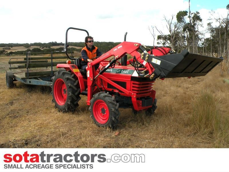 kubota l1-24dt tractor with 4 in 1 fel 28hp 440094 007