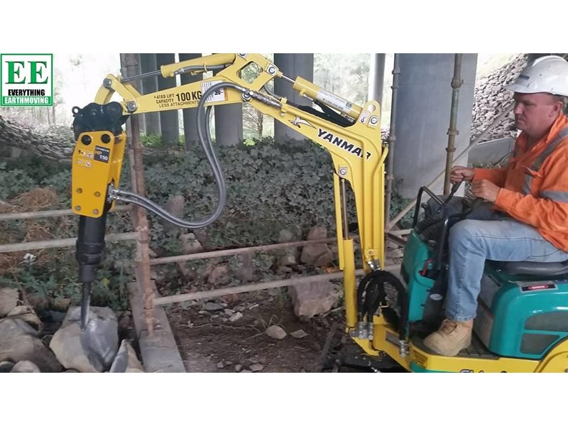 indeco indeco hp150 rock breaker for mini excavators up to 2.5 tonnes 429945 014