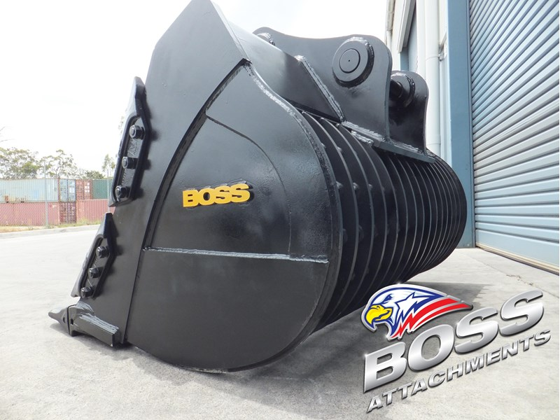 boss attachments boss heavy duty hd rock sieve buckets 20-110 tonne  - in stock 446773 004