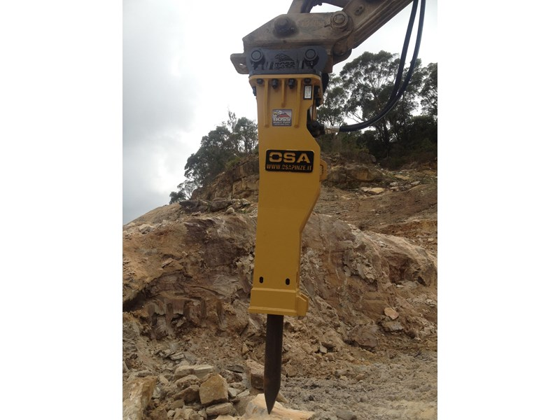 boss attachments new osa hm series hydraulic hammer 3-110 tonne 447084 005