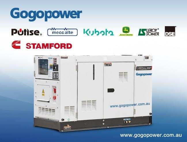 gogopower brand new ds10x5s-au potise powered generator 10kva 433897 001