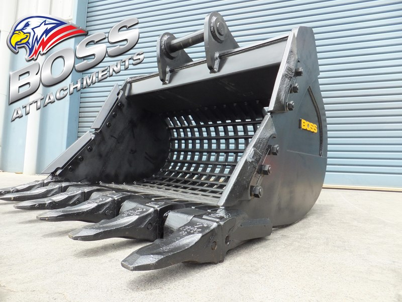 boss attachments boss 20-110 tonne armoured hd rock sieve buckets 449581 004