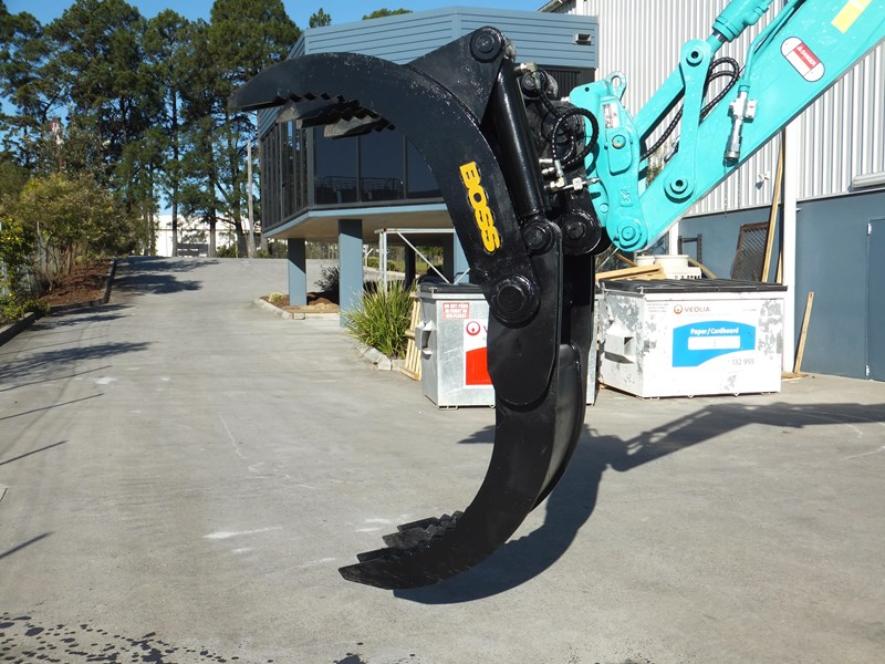 "boss attachments boss 13-40 tonne hydraulic grab ""in stock"" 449583 007"