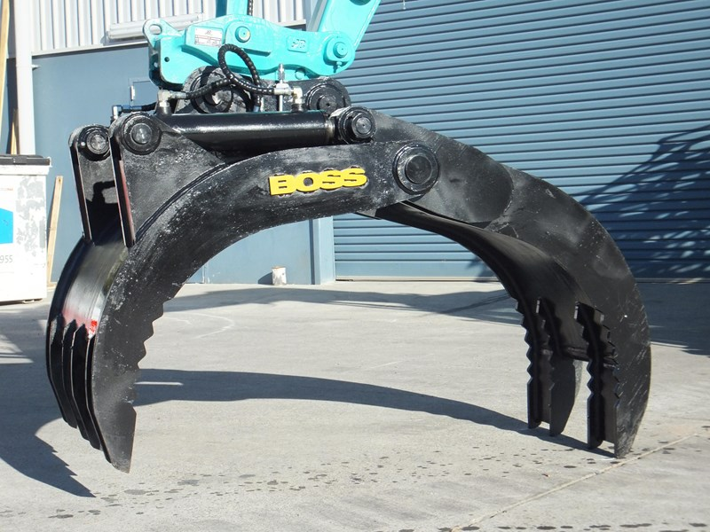 "boss attachments boss 13-40 tonne hydraulic grab ""in stock"" 449583 008"