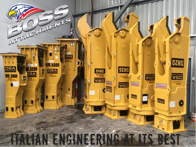 boss attachments osa sh series rotating demolition shears 449585 003