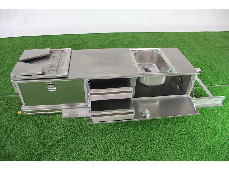 kylin campers stainess steel slide out kitchen 460839 002