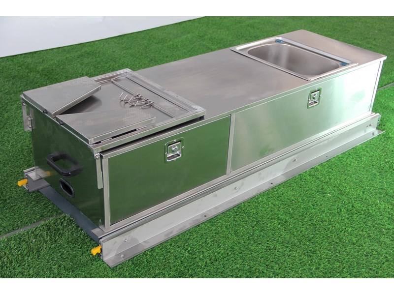 kylin campers stainess steel slide out kitchen 460839 006