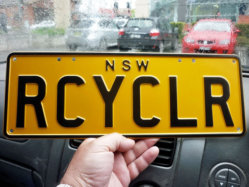 number plates rcyclr/scrapa 466030 001