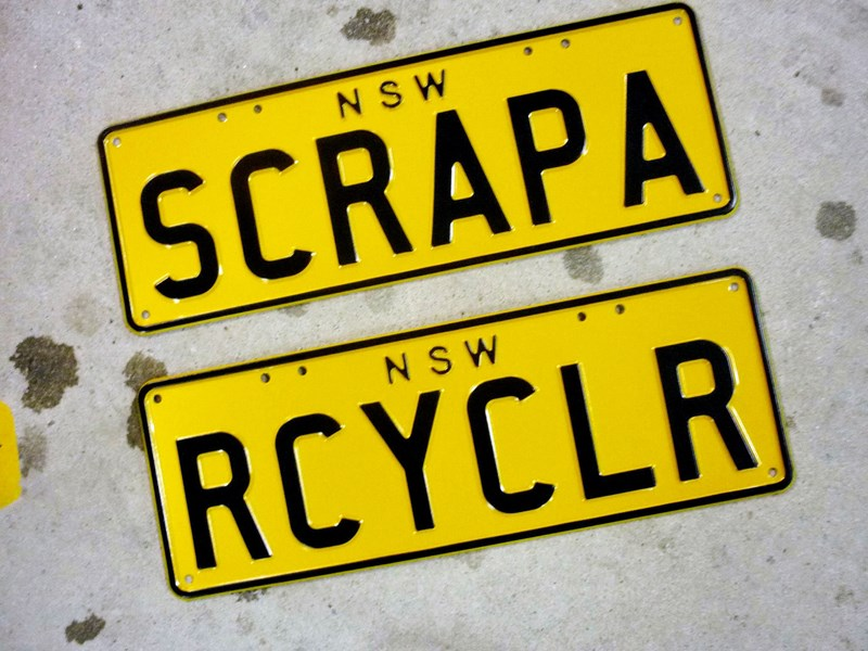 number plates rcyclr/scrapa 466030 002