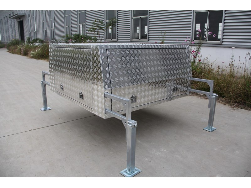kylin campers dual cab jack off alloy checker plate canopy, aluminium canopy, ute canopy   - 1800x1800x860mm 470122 001