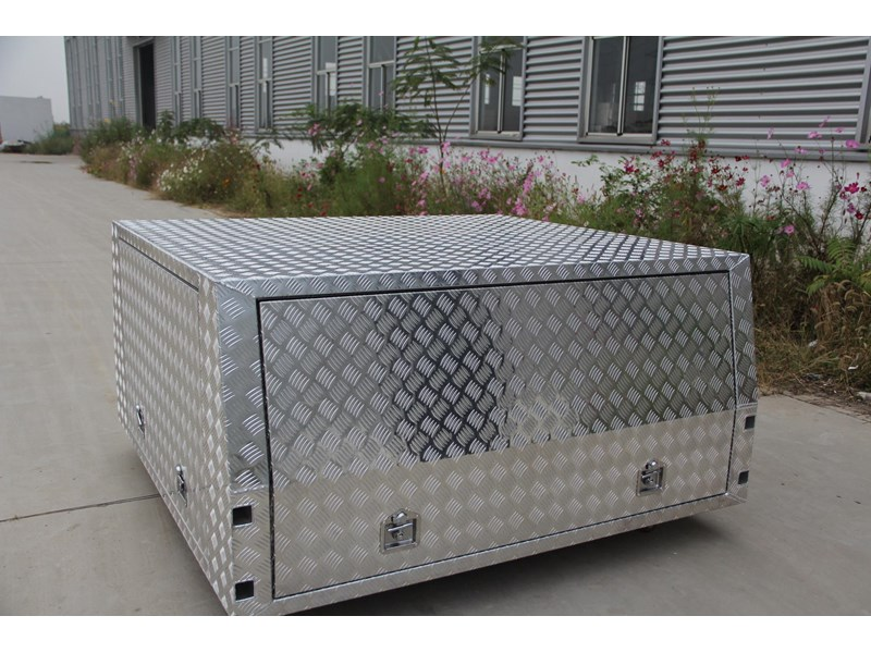 kylin campers dual cab jack off alloy checker plate canopy, aluminium canopy, ute canopy   - 1800x1800x860mm 470122 004