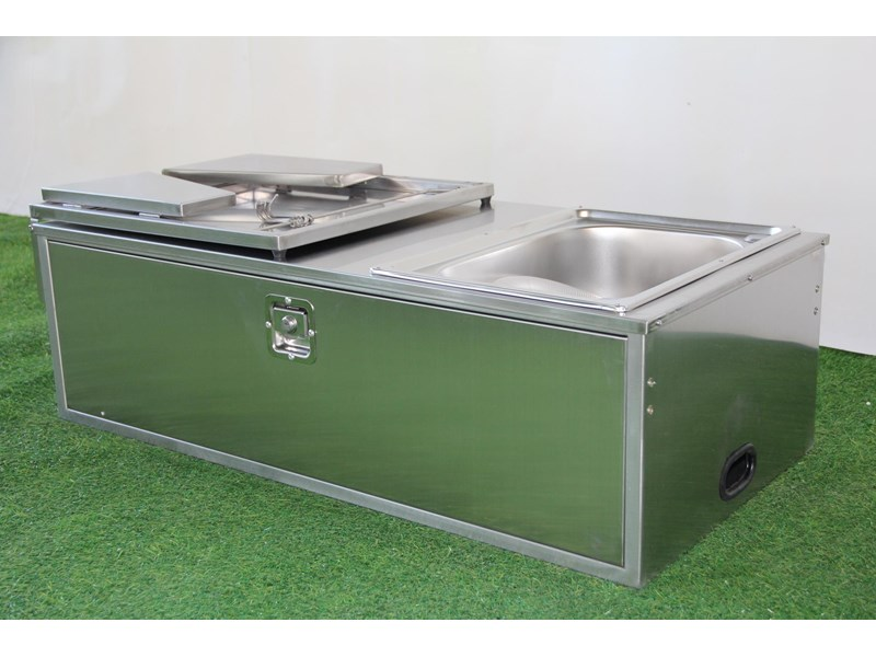 kylin campers stainless steel tailgate kitchen 460842 002