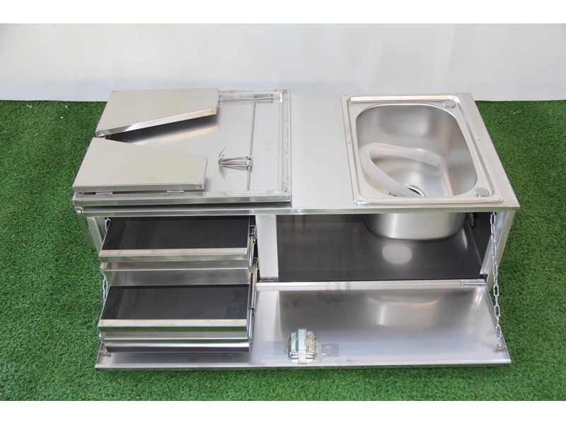 kylin campers stainless steel tailgate kitchen 460842 004