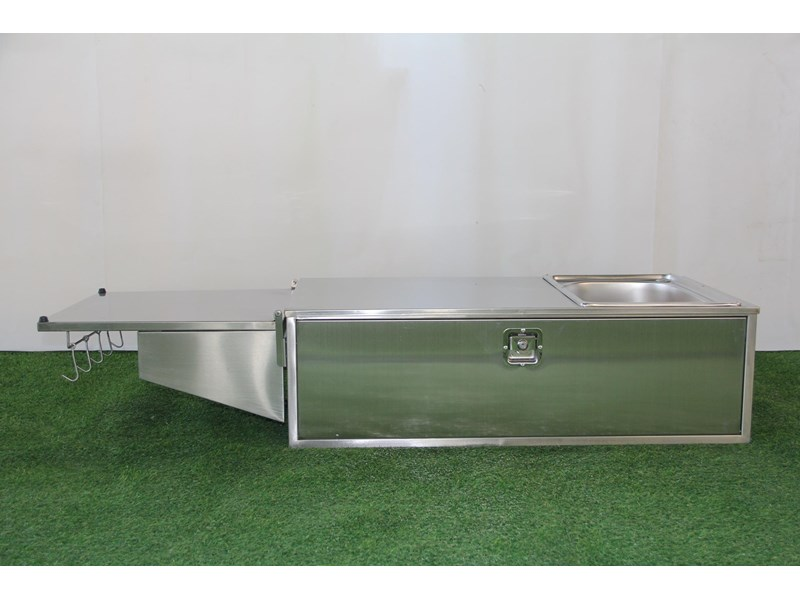 kylin campers stainless steel tailgate kitchen 460842 007