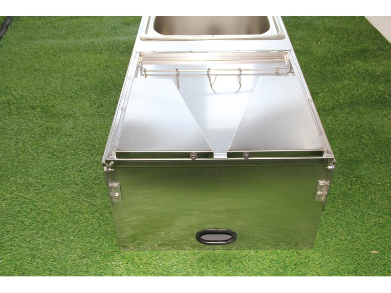 kylin campers stainless steel tailgate kitchen 460842 009